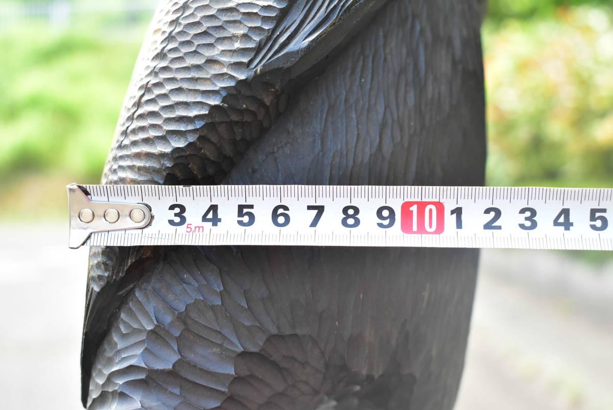 北海道 アイヌ 古い木彫りの熊 高さ約37cm 重さ3.2kg 彫刻 置物 工芸品 民芸品 画像20枚掲載中_画像9