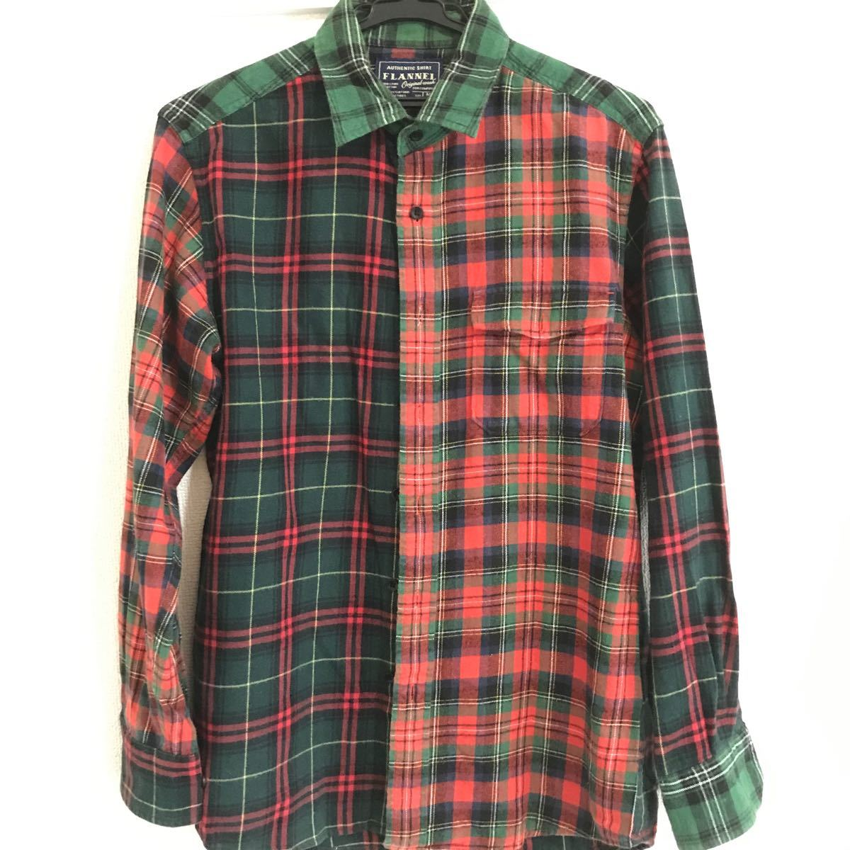 ネルシャツ 長袖シャツ チェックシャツ