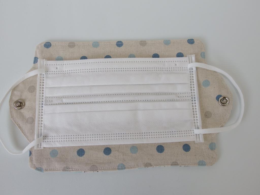 ハンドメイド マスク用仮置き・一時保管・持ち歩きケース 水色51_画像3