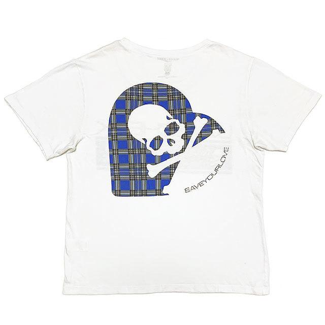 国内正規品■master mind JAPAN(マスターマインド)×LOVEフォト×LOVE CHECK ZOZOTOWN限定 半袖Tシャツ 白ホワイトM_画像3
