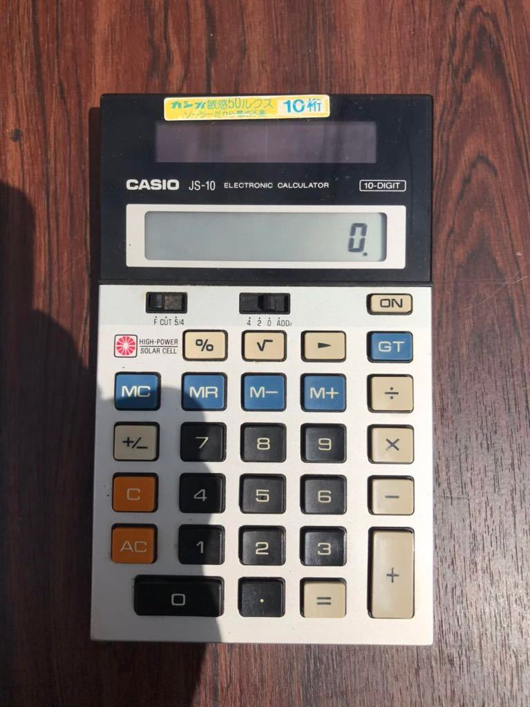 CASIO カシオ電卓 JS-10 動作確認済み