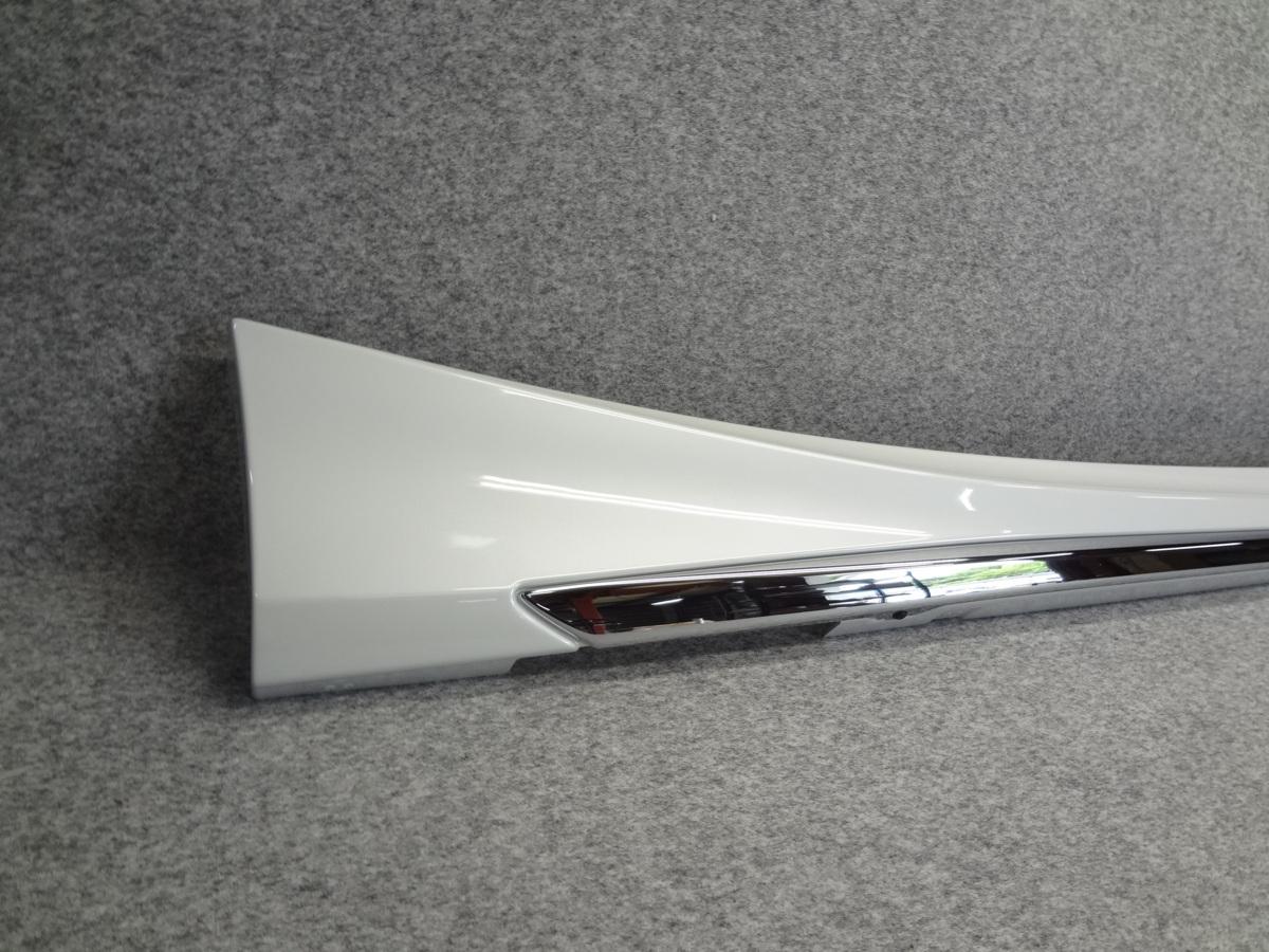 195588-E10 新品未使用品 レクサス IS ASE30 Fスポーツ モデリスタ サイドスカート 右 右側 077 パールホワイト D2611-40610_画像2