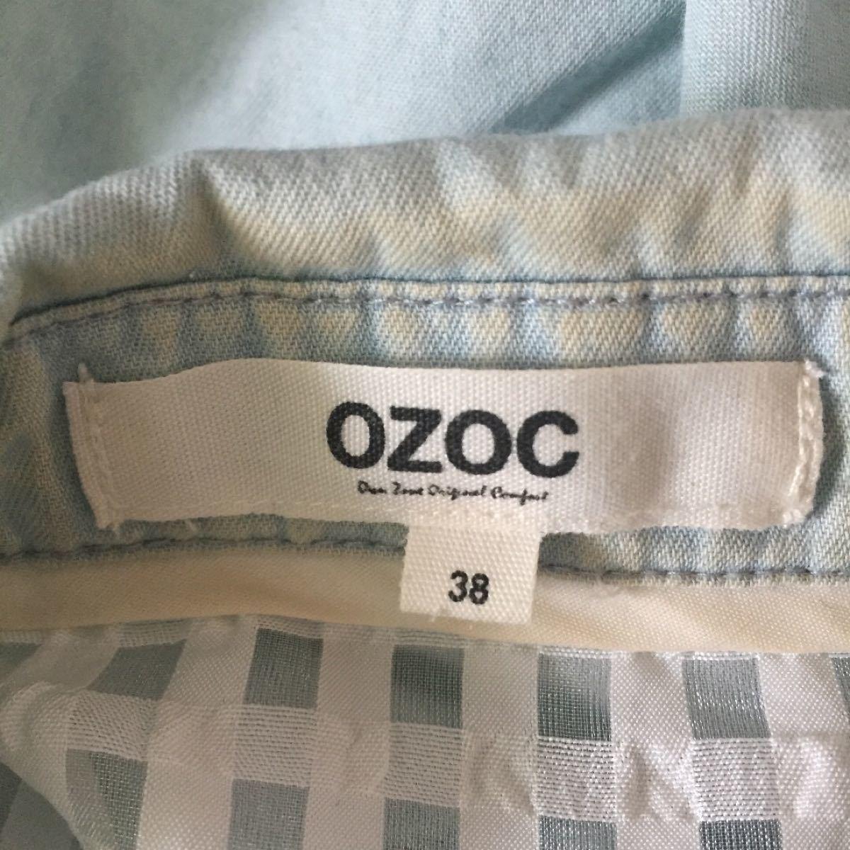 半袖シャツ デニムシャツ  OZOC  38