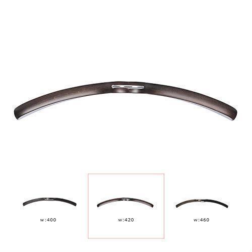 【ナカタハンガー】日本製 木製メンズ シャツハンガー 5本組 スモークブラウン SET-02(w:420)_画像4