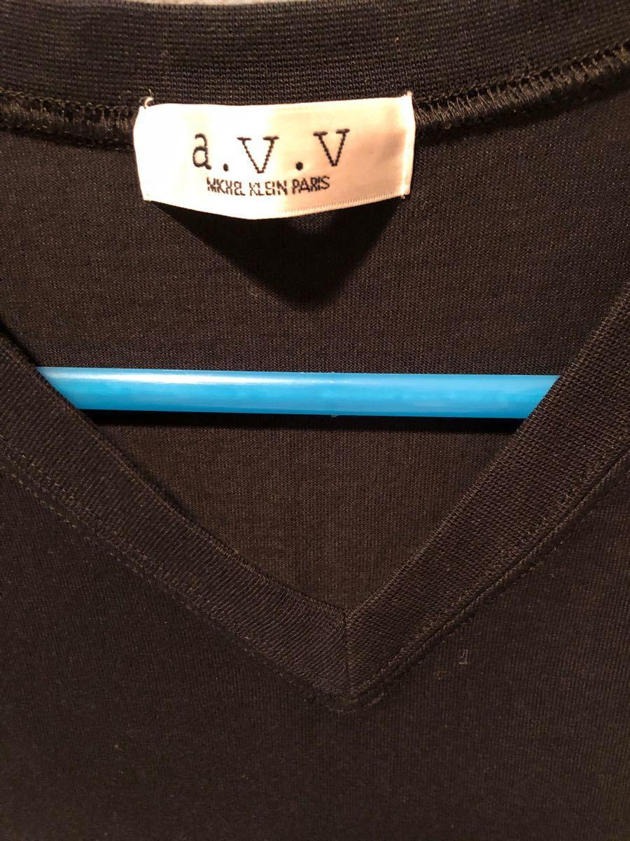 a.V.VVネック シンプルシャツ 半袖Tシャツ