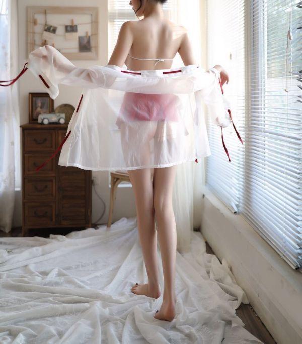II9691 巫女 コスプレ衣装 エロ可愛い ミニスカート セクシー ベビードール コスチューム 着物 セクシーランジェリー_画像5