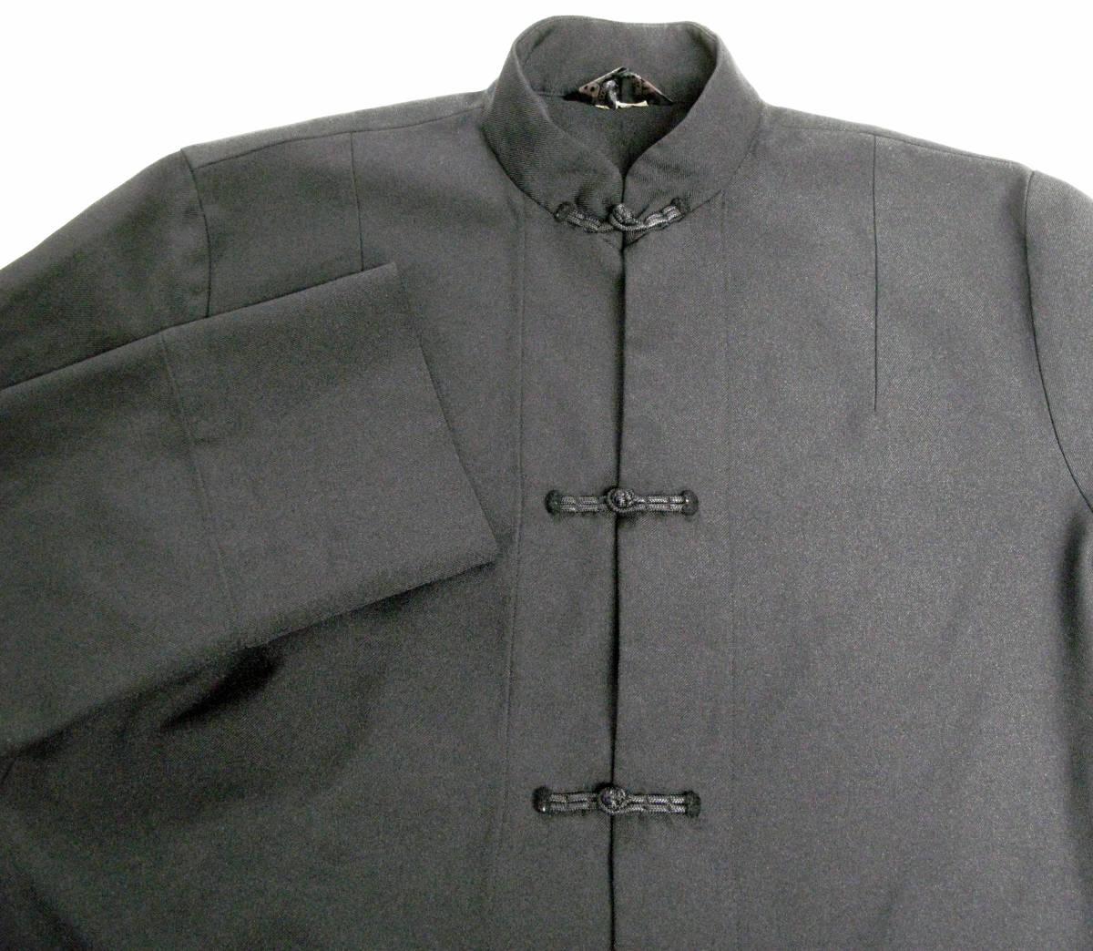 ギャルソンブラック BLACK : ポリエステル チャイナ風 ロング ジャケット ( コート COMME des GARCONS BLACK China Long Jacket_画像3