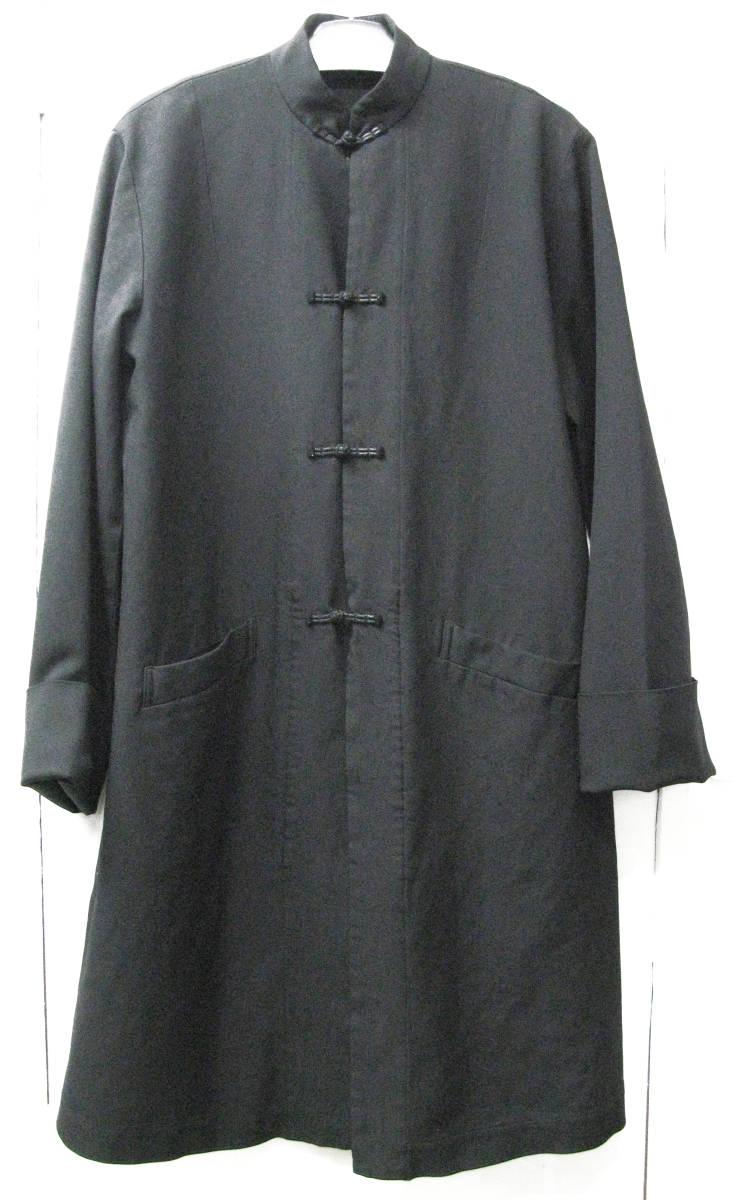 ギャルソンブラック BLACK : ポリエステル チャイナ風 ロング ジャケット ( コート COMME des GARCONS BLACK China Long Jacket_画像1