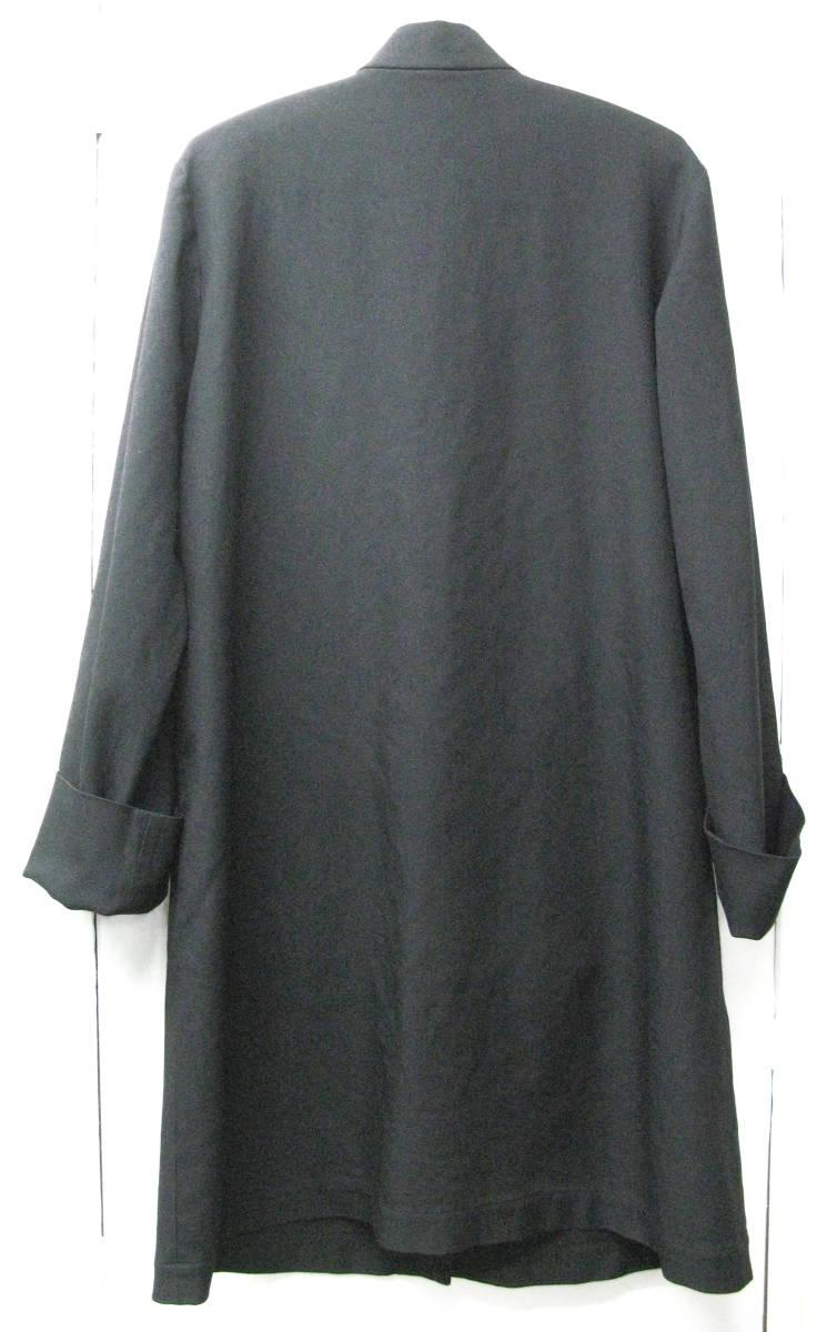 ギャルソンブラック BLACK : ポリエステル チャイナ風 ロング ジャケット ( コート COMME des GARCONS BLACK China Long Jacket_画像2