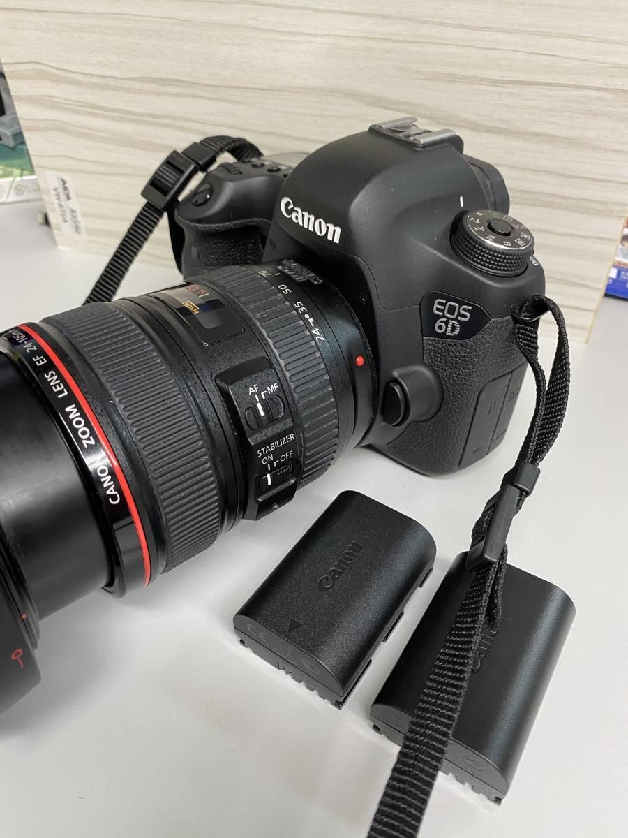 1円スタート Canon EOS 6Dボディ■ズームレンズZOOM LENS EF 24-105mm 1:4 L IS USM