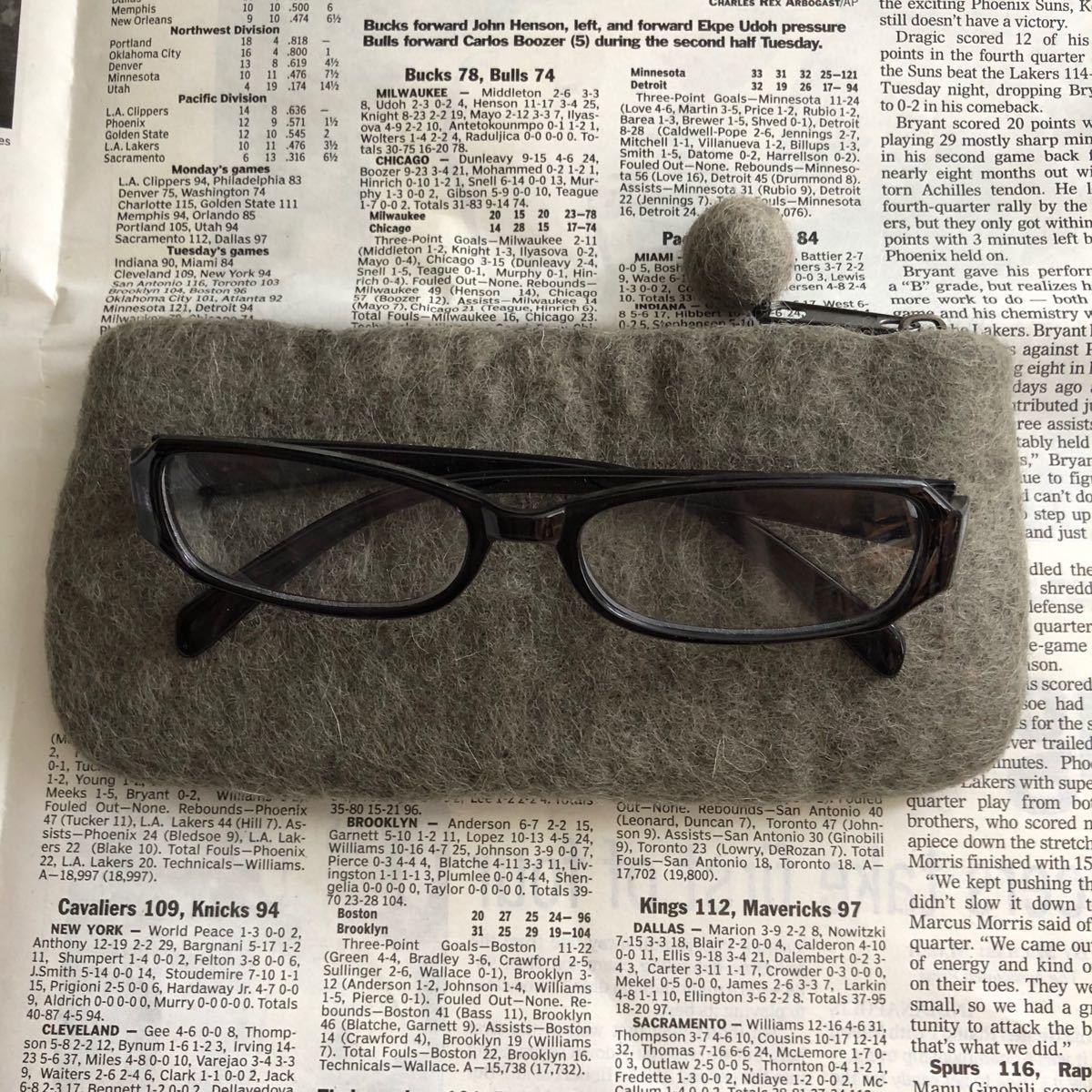 オリジナル メガネポーチ フェルト ハンドメイド 雑貨 ペンケース メガネケース