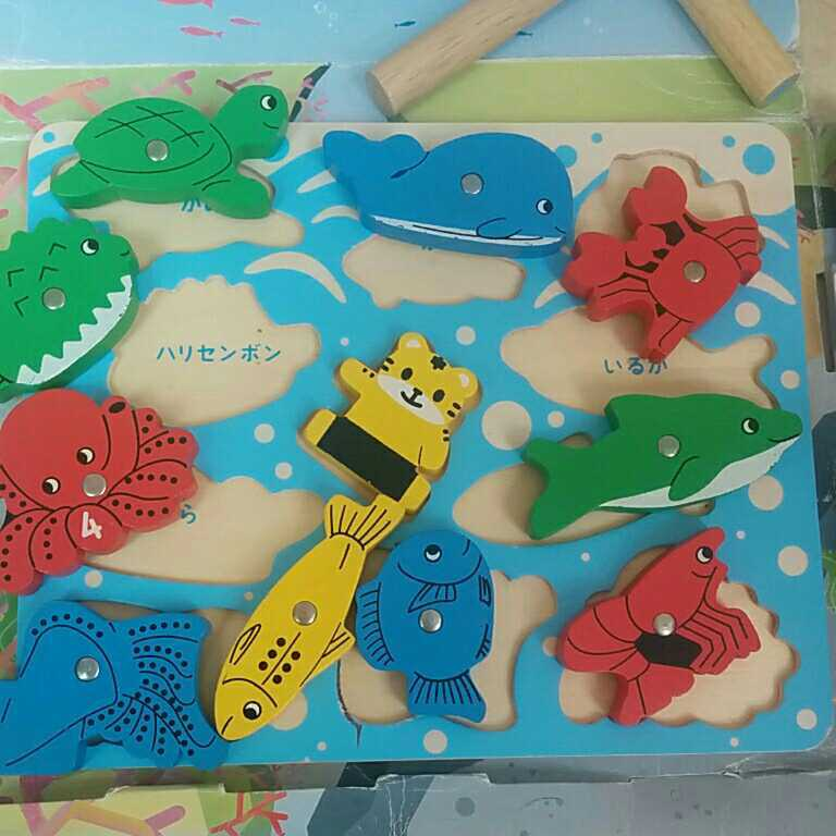 知育玩具 積み木 木のおもちゃ つみき しまじろう つり パズル かたち すうじ 立体パズル おもちゃ_画像2