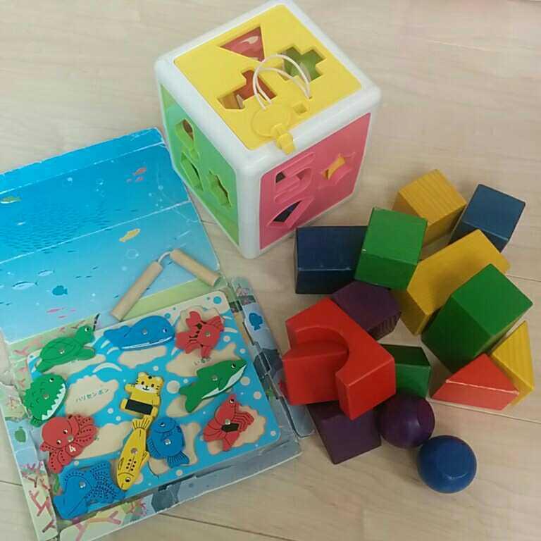 知育玩具 積み木 木のおもちゃ つみき しまじろう つり パズル かたち すうじ 立体パズル おもちゃ_画像1