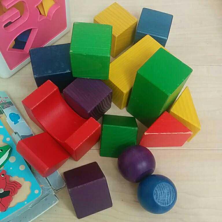 知育玩具 積み木 木のおもちゃ つみき しまじろう つり パズル かたち すうじ 立体パズル おもちゃ_画像3