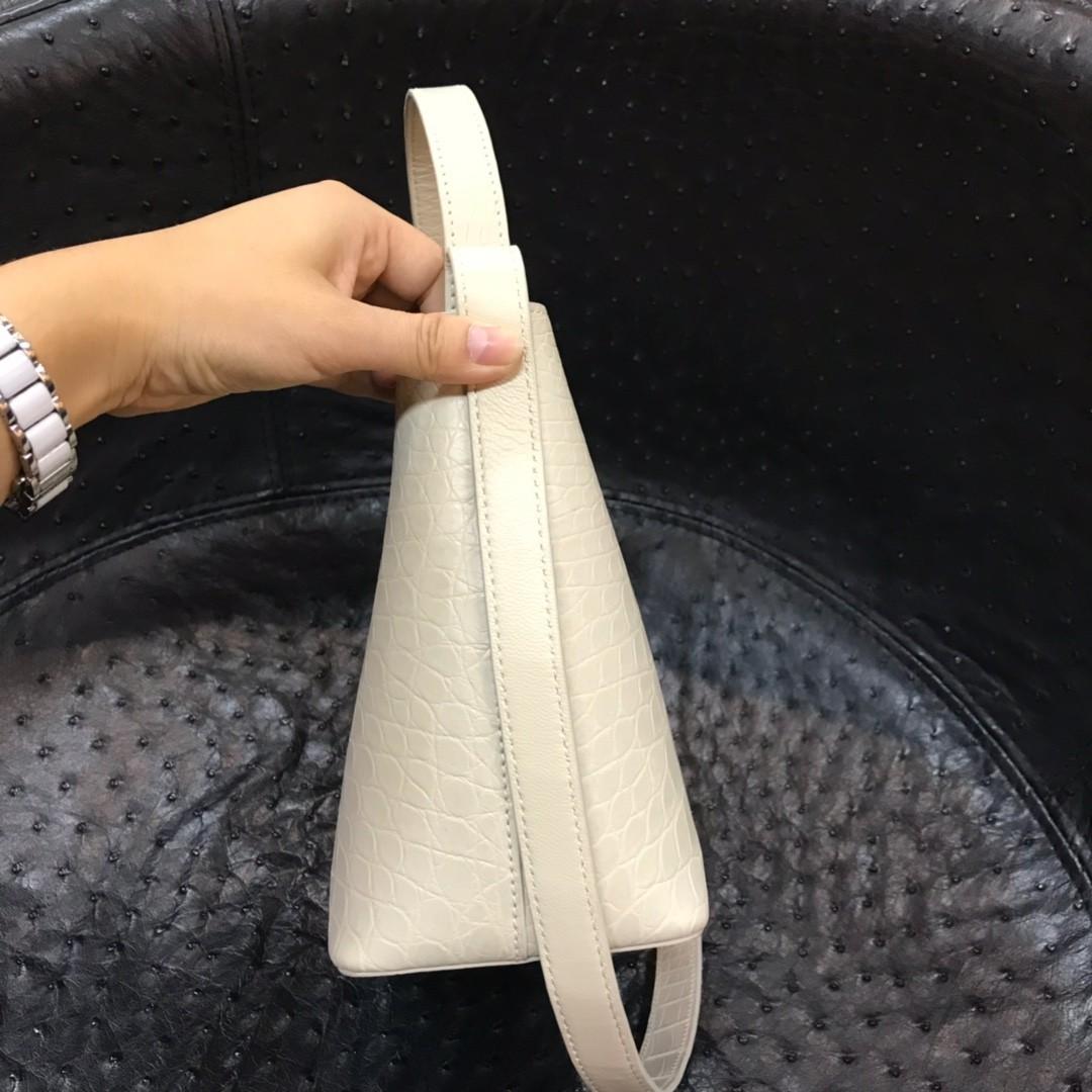 NEW クロコダイル ワニ革 腹革センター ショルダーバッグ ハンドバッグ 斜め掛け バケットバッグ 肩掛け 鞄かばん レディース プレゼント_画像6