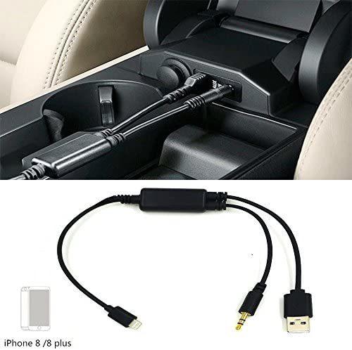 DYYUカーAUXアダプター3.5 mmジャックとUSB Y Cbleオーディオインターフェース充電器コードi-Phone X 8 7 7 Plus for BMW(39インチ/ 100 c_画像4