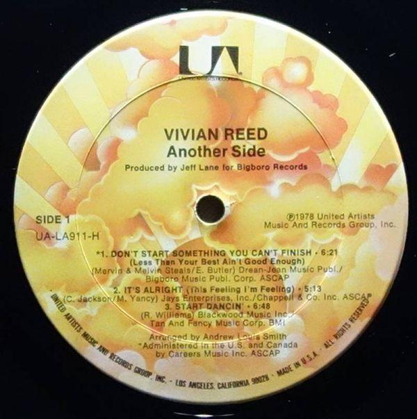 Vivian Reed - Another Side◆Brass Construction等に在籍したJeff Laneプロデュース作品◆UA-LA911-H_画像3