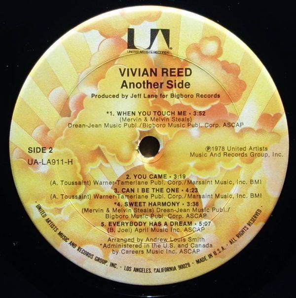 Vivian Reed - Another Side◆Brass Construction等に在籍したJeff Laneプロデュース作品◆UA-LA911-H_画像4