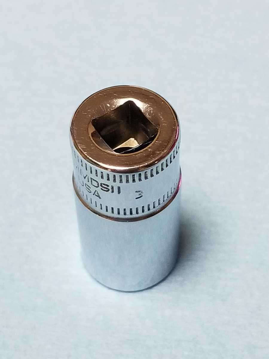 11mm 1/4 セミディープ スナップオン (12角) TMMDS11 中古品 保管品 SNAPON SNAP-ON 送料無料 ソケット セミディープソケット Snap-on _画像3