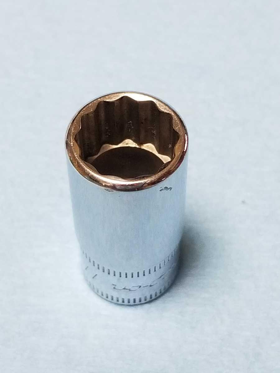 11mm 1/4 セミディープ スナップオン (12角) TMMDS11 中古品 保管品 SNAPON SNAP-ON 送料無料 ソケット セミディープソケット Snap-on _画像2