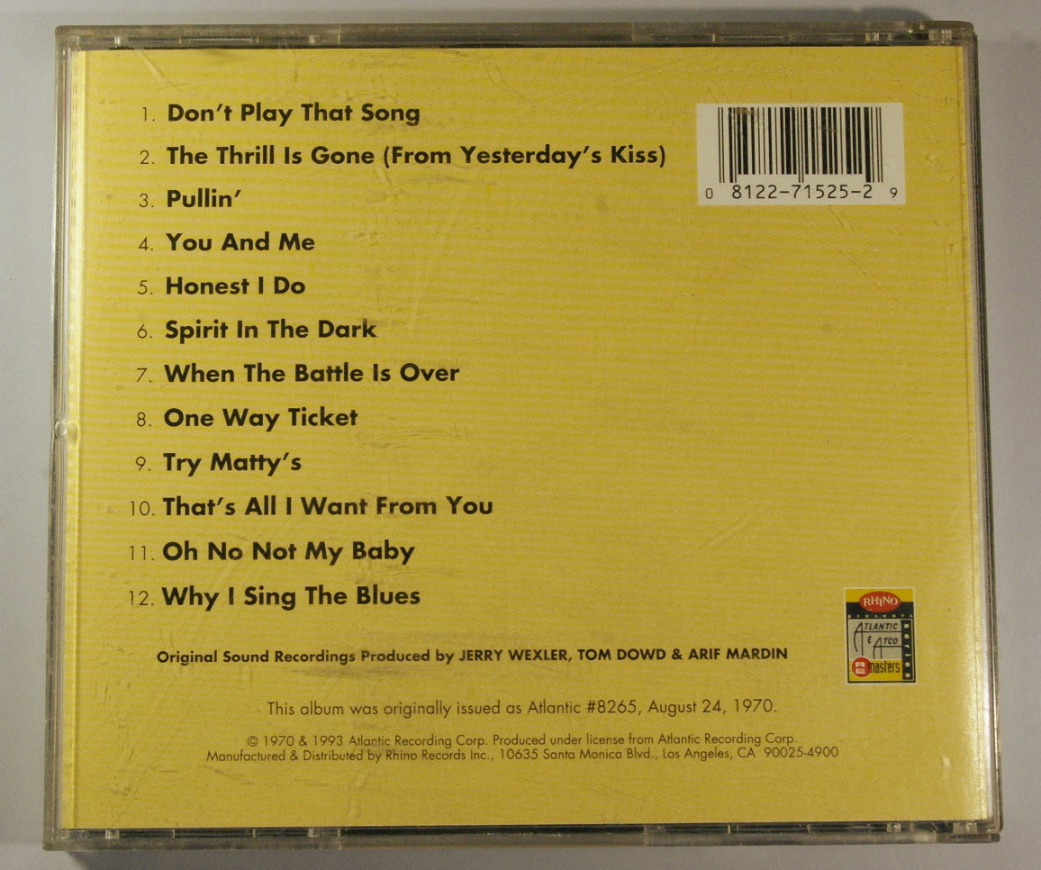 "CD アレサ・フランクリン ARETHA FRANKLIN ""Spirit in the Dark"" 輸入盤"
