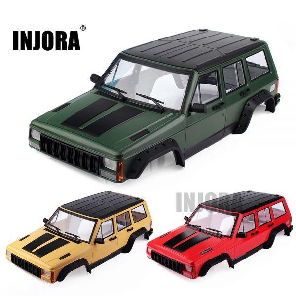 INJORA塗装ハードプラスチック313mmホイールベースボディカーシェル1/10 RCクローラーアキシャルSCX10&S S2032838900591_画像1