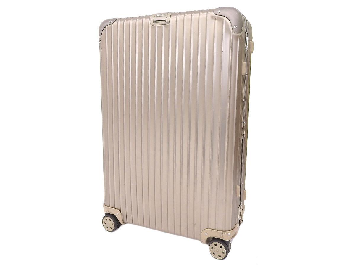 【RIMOWA リモワ】トパーズチタニウム スーツケース キャリーバッグ 旅行 トラベル アルミニウム シルバー 約89L [20200529]