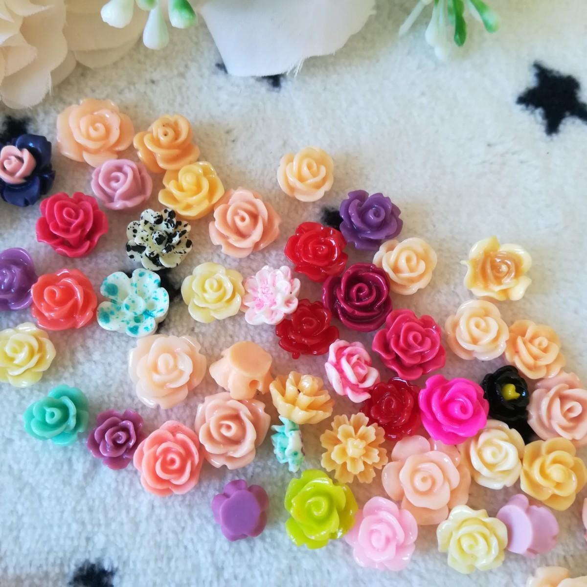 デコパーツ プラパーツ ハンドメイド  材料 手作り パーツ 花 バラ 薔薇 く