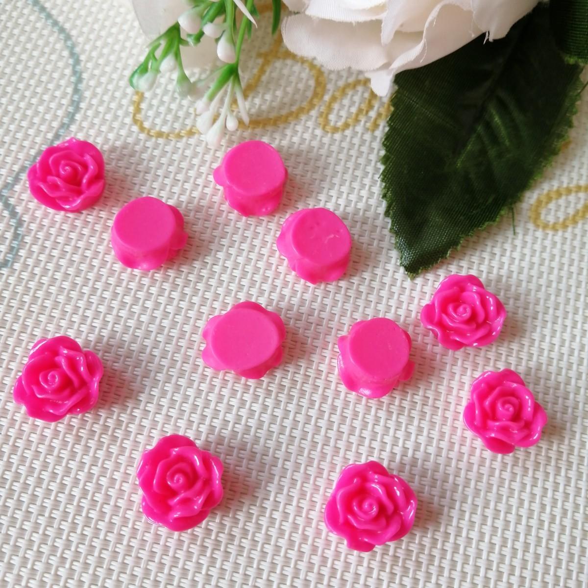 デコパーツ プラパーツ ハンドメイド 手作り リボン 材料 薔薇 バラ 花の1