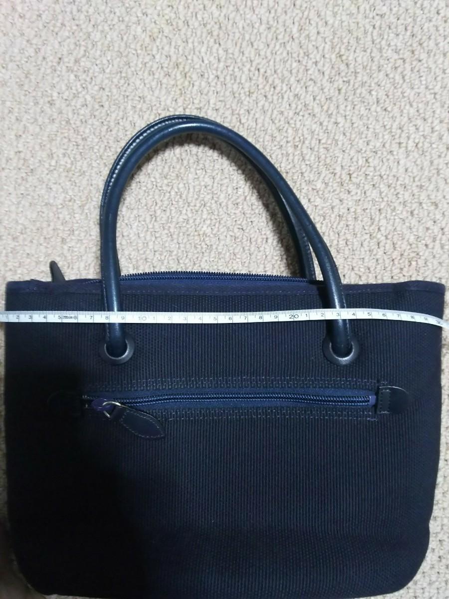 良品ハンドバッグ 紺色レディース トートバッグ ランチバッグ  メンズ可