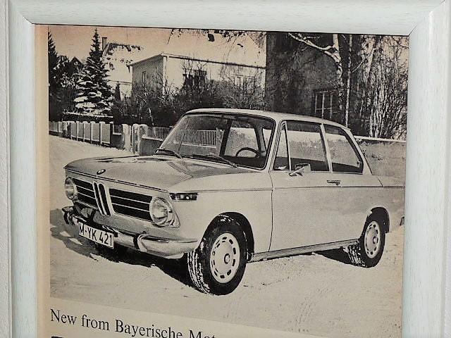 1968年 USA '60s 洋書雑誌記事 額装品 BMW 2002 ( A4サイズ )_画像2
