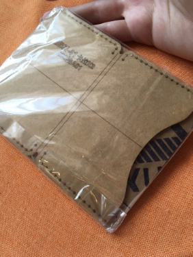 a0206 革財布ケーステンプレート 透明 アクリル 革パターン デザインテンプレート ステンシル diy 縫製クラフト レザークラフト ツール_画像5