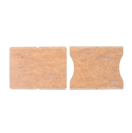 a0206 革財布ケーステンプレート 透明 アクリル 革パターン デザインテンプレート ステンシル diy 縫製クラフト レザークラフト ツール_画像2