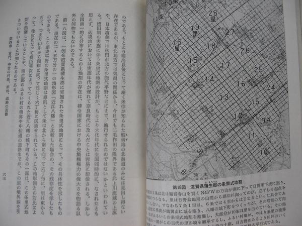 歴史的景観の美日本の歴史的景観の変遷古文化財保存と都市再開発_本文例 滋賀県蒲生郡の条里式地割