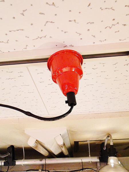 【77238】外国の雰囲気漂うお部屋作りにイチオシの照明!ダルトン アルミニュムペンダントライト(レッド)/アメリカ雑貨/おしゃれ/ランプ_画像5