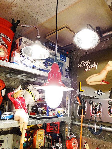 【77238】外国の雰囲気漂うお部屋作りにイチオシの照明!ダルトン アルミニュムペンダントライト(レッド)/アメリカ雑貨/おしゃれ/ランプ_画像1