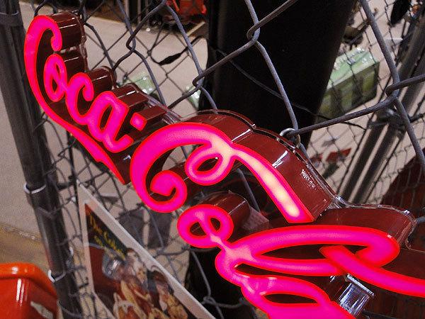【161012】50sダイナーの雰囲気を再現♪コカ・コーラブランド LEDミニレタリングサイン coke アメリカ雑貨 時計 オールディーズ 60s _画像2