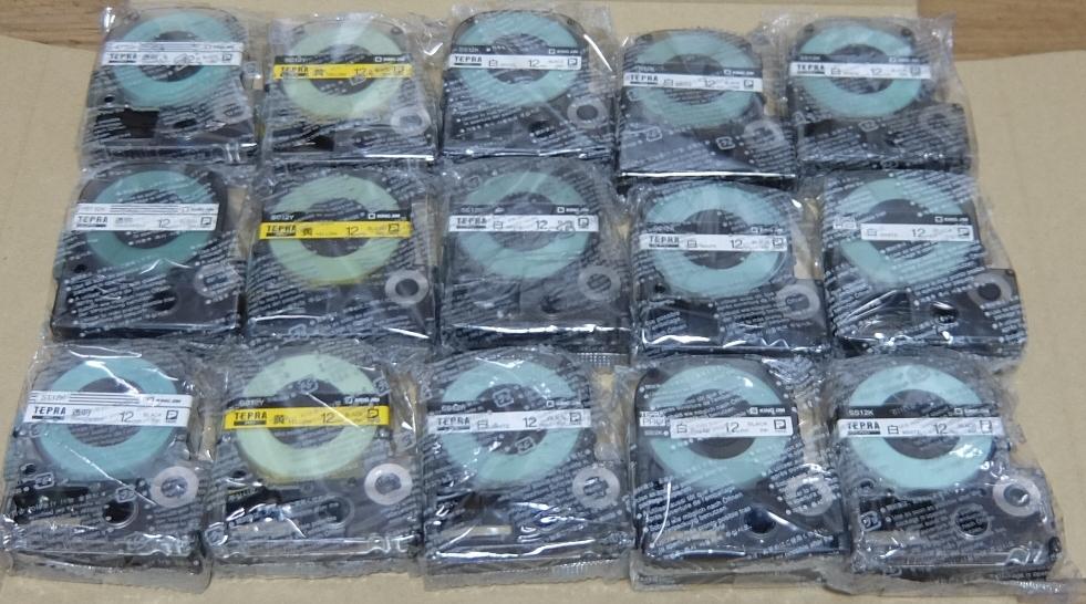 テプラ テープカートリッジ 12mm 15本 送料無料_画像1