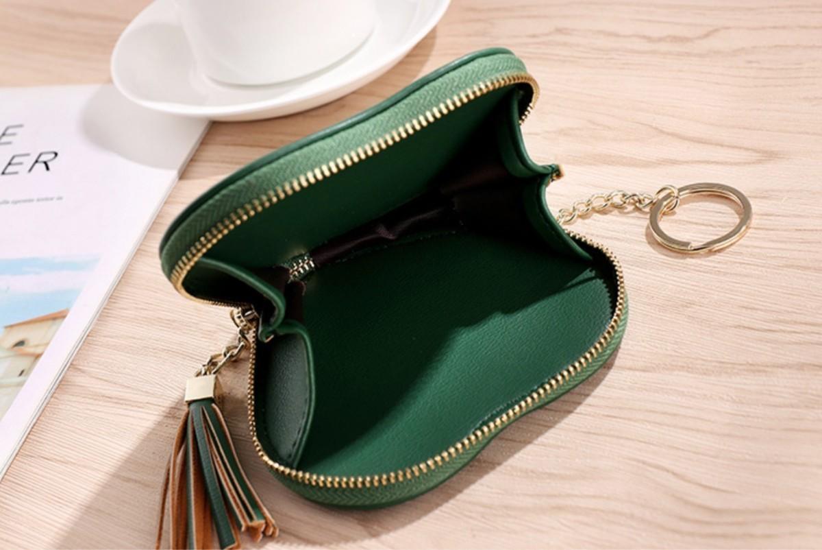 小物入れ ハート アクセサリー ポーチ コインケース カードケース 可愛い 緑