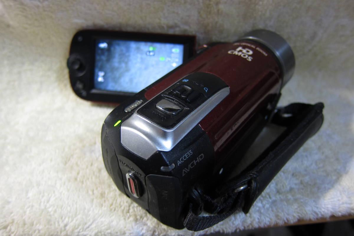 レッド・キヤノン ivis HF R10 デジタルビデオカメラ・動作中古品・充電器無し・電池無し_画像1