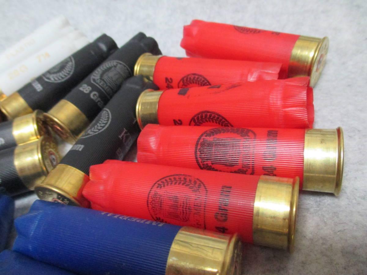 12番 散弾銃空薬莢 12ゲージ 実銃発射 5色セット レミントンM870 M1100 ウィンチェスターM1897 M1887 ベネリM3 スパス12_画像4