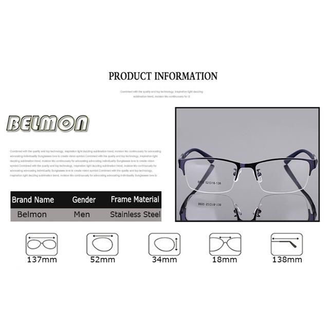 ★1円スタート★メンズ 男性用 ステンレス メガネ フレーム 眼鏡 AT2330 _画像3