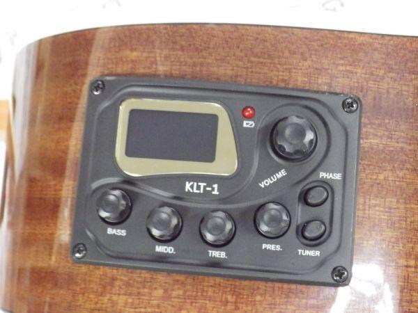 Sepia Crue セピアクルー チューナー機能付き エレアコギター EAW-01/VSケース・ケーブル付属 ストラップサービス_画像5