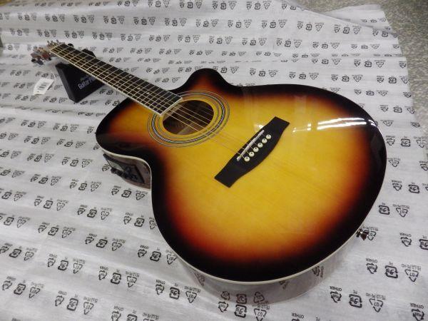 Sepia Crue セピアクルー チューナー機能付き エレアコギター EAW-01/VSケース・ケーブル付属 ストラップサービス_画像1