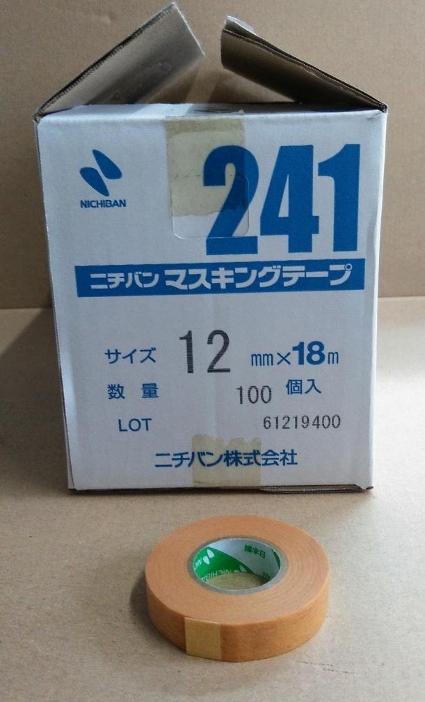 ニチバン マスキングテープ #241 12mmx18m 1巻よりバラ販売 送料¥210_画像1