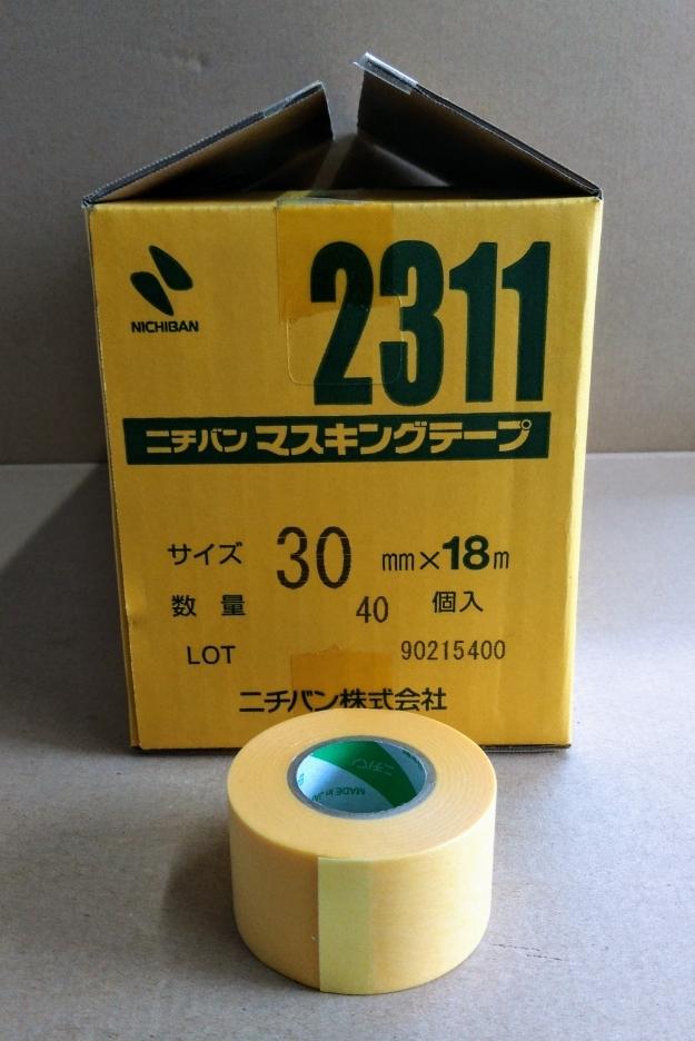 ニチバン マスキングテープ #2311 30mmx18m 1巻よりバラ販売 送料¥220~ 黄色いテープ_画像1
