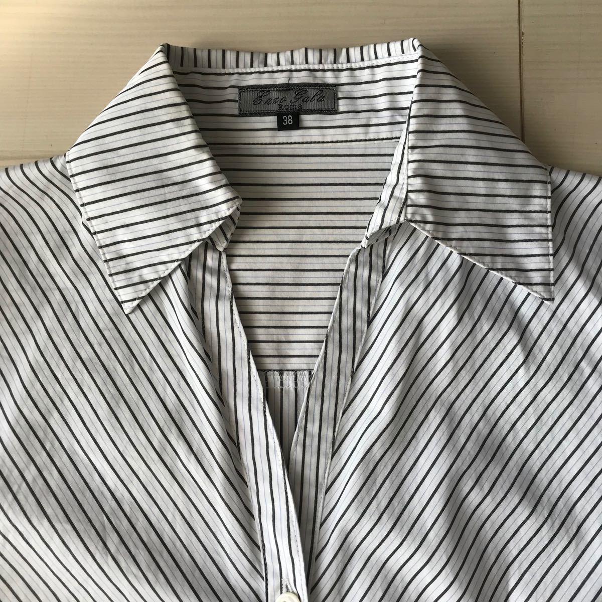 ストライプシャツ ブラウス S〜Mサイズ
