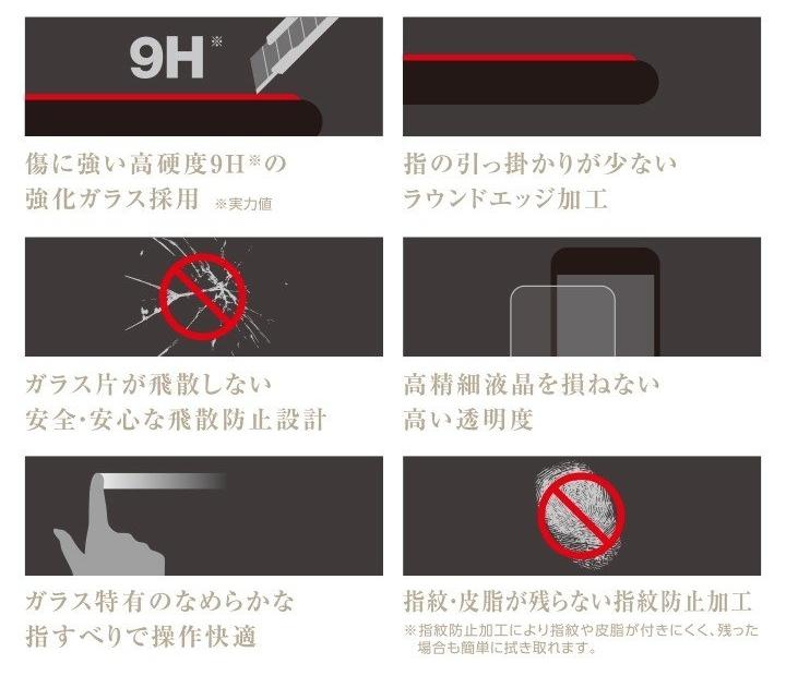 ★ELECOM SoftBank/docomo/au AQUOS R3 808SH/SH-04L/SHV44用ガラスフィルム 【0.33mm】▲ _※写真はイメージです。