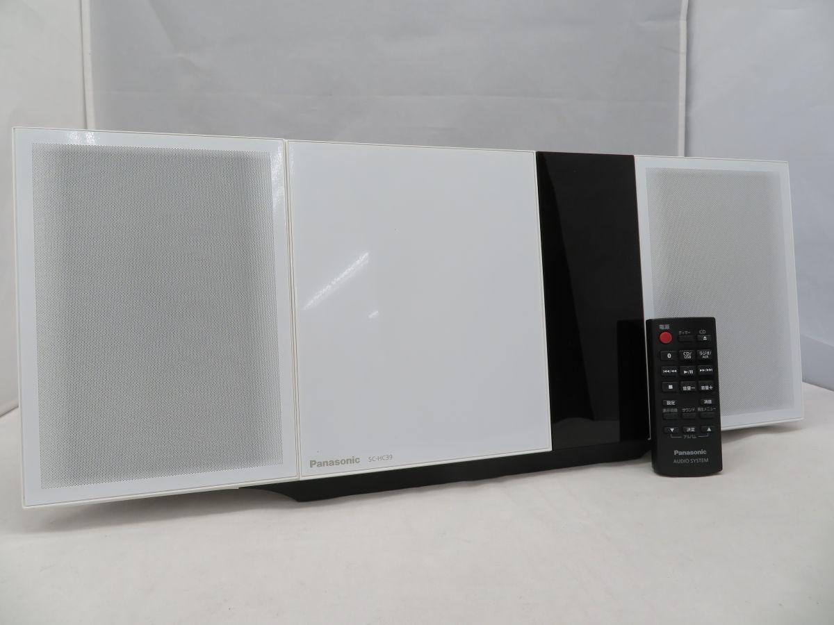 iw102 Panasonic パナソニック コンパクトステレオシステム SC-HC39 中古 現状品_画像1