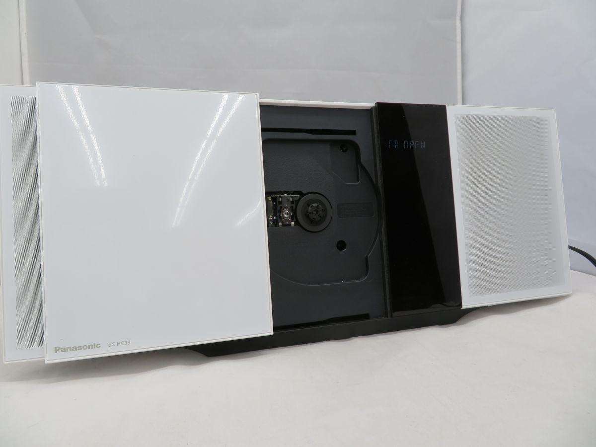 iw102 Panasonic パナソニック コンパクトステレオシステム SC-HC39 中古 現状品_画像2